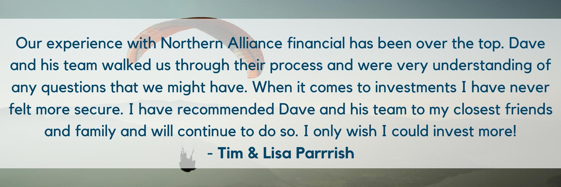 Tim and Lisa Testimonial